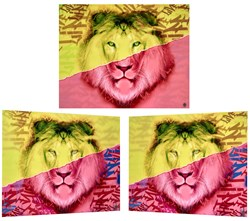 Lion by Dan Pearce - Mixed Media Lenticular sized 39x32 inches. Available from Whitewall Galleries